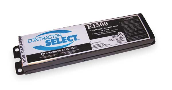 Lithonia Lighting 40 W,  500 lm Linear Fluorescent Battery Pack EI500 M12