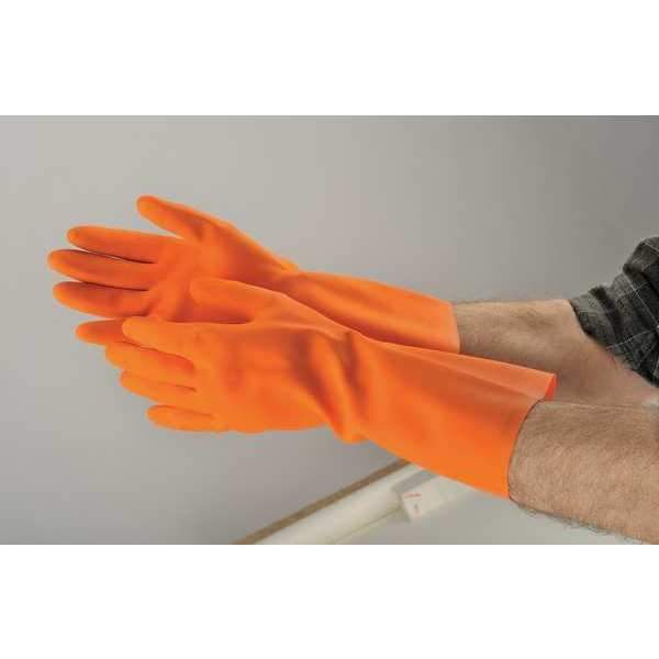 "Condor 13"" Chemical Resistant Gloves,  Natural Rubber Latex,  10,  1 PR 2YEN4"
