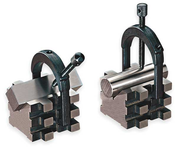 Starrett V-Blocks, Matched Pair w/Clamps, 2 In 568C