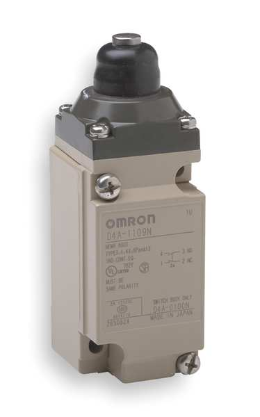 Omron Heavy Duty Limit Switch,  Plunger,  DPDT,  5A @ 600V AC D4A2509N