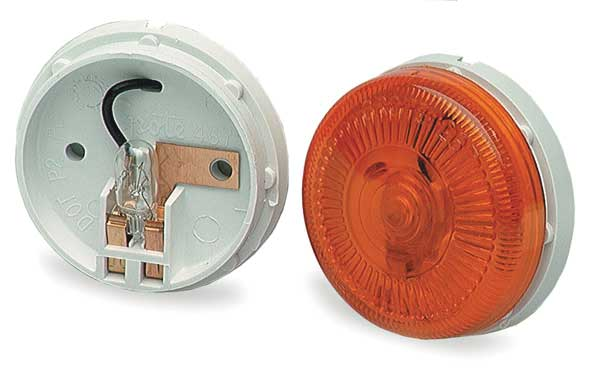 Grote Clearance/Marker Lamp, Round, Yellow 45413