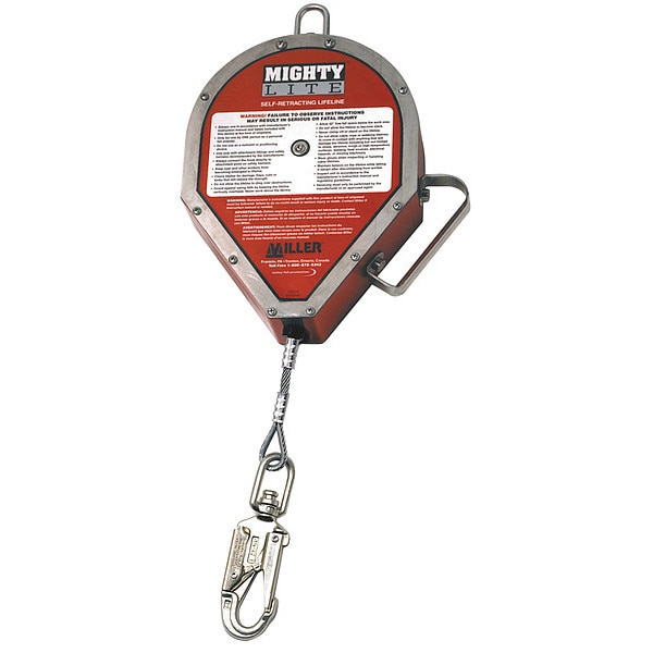 Honeywell Miller Wire Rope & Tagline,  50 ft.,  310 lb Weight Capacity,  Red RL50SS-Z7/50FT