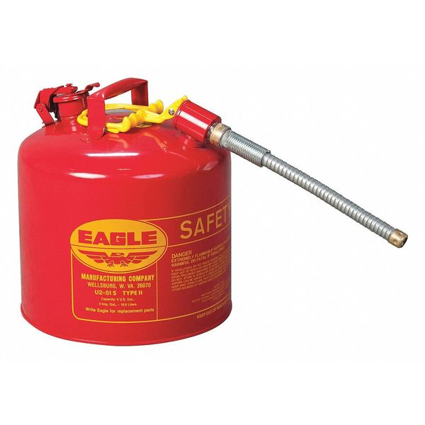 Eagle 5 gal. Red Steel Type II Safety Can U251SX5