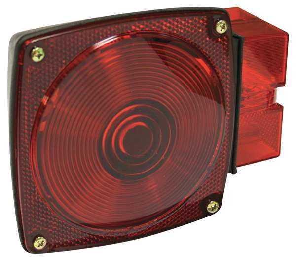 """Reese Submersible StopLight,  Square,  Red,  6-1/4""""L,  Height - Vehicle Lighting: 4-5/8"""" 73826"""