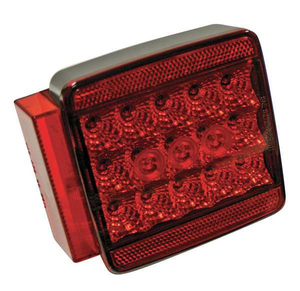 """Reese Submersible LED, Square, Red, 5-1/8"""" L 73854"""