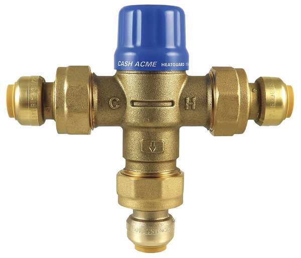 Cash Acme Thermostatic Mixing Valve, 3/4in., 200 psi HG110D