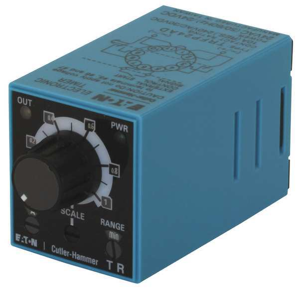 Eaton Time Delay Relay, 24VAC/DC, 10A, DPDT TRFP24AD