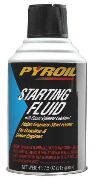 Pyroil Starting Fluid,  7.5 Oz. PYSFR7.5