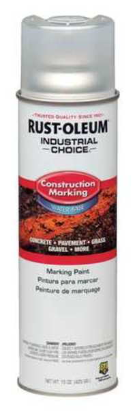 Rust-Oleum Construction Marking Paint,  17 oz.,  Clear,  Water -Based 264693