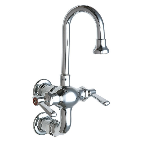 Chicago Faucets Hot And Cold Water Mixing Sink Faucet 225-261ABCP