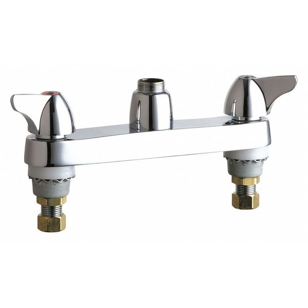 """Chicago Faucets Manual 8"""" Mount,  Sink Faucet,  Polished chrome 1100-LESAB"""