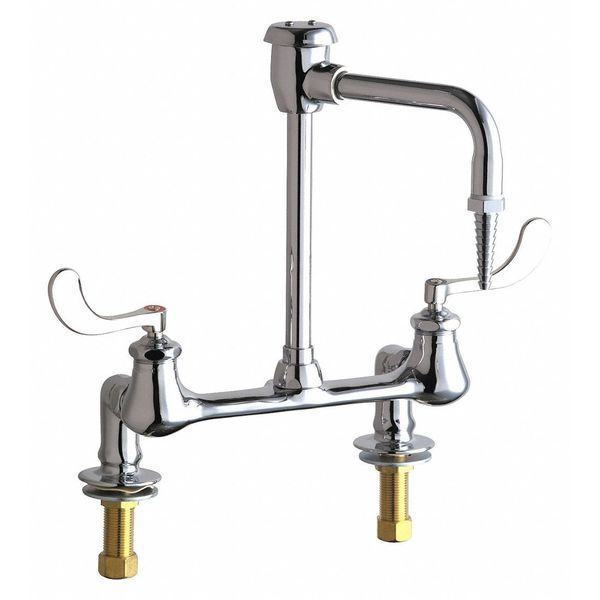 "Chicago Faucets Dual-Handle 8"" Mount,  Commercial Hot And Cold Water Inlet Faucet 947-317CP"