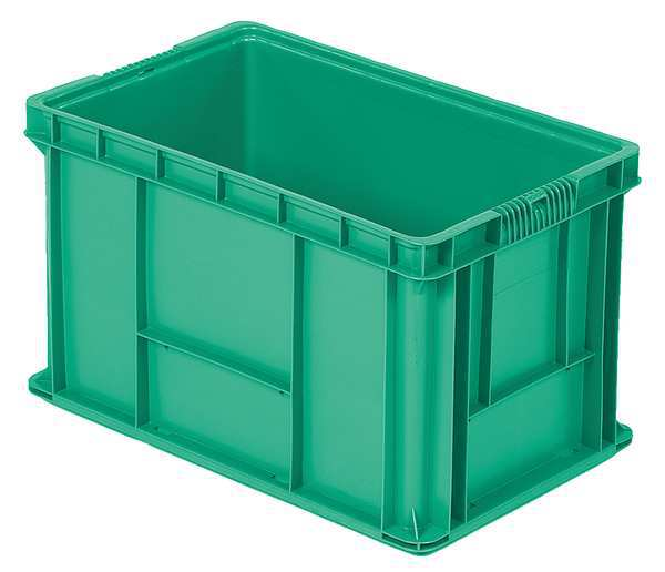 Orbis Green Straight Wall Container 24 in x 15 in x 14 1/2 in H,  1 PK NSO2415-14 Green
