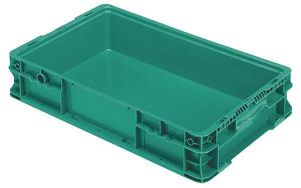 Orbis Green Straight Wall Container 24 in x 15 in x 5 in H,  1 PK NSO2415-5 Green