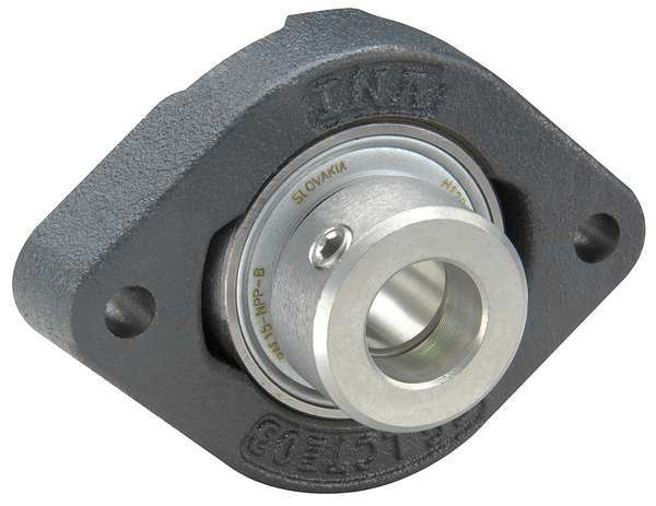 Ina Flange Bearing, 2-Bolt, Ball, 17mm Bore FLCTE17