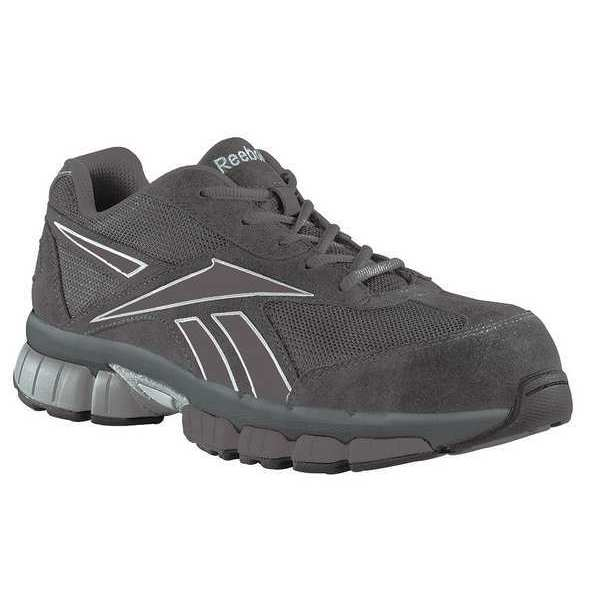 Reebok Athletic Shoes, Sfty Toe, Blk/S, 11-1/2, PR RB4895