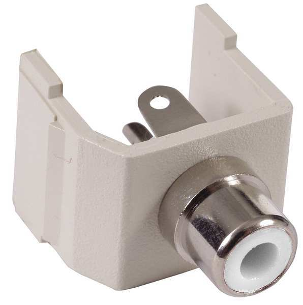 Hubbell Premise Wiring Connector, RCA, Duplex, White SFRCW