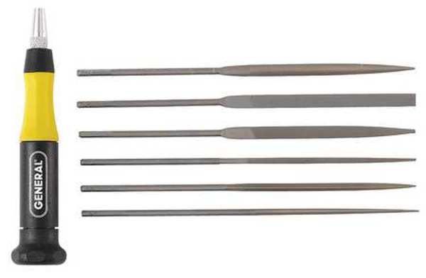 General Tools Needle File Set, Swiss, 6 Pieces 707476