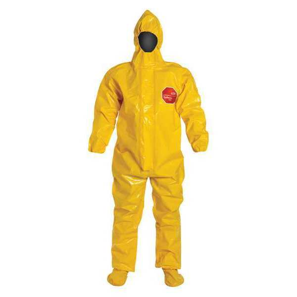 Dupont Hooded Coverall, Socks/Boot Flaps, 7XL, PK2 BR128TYL7X000200