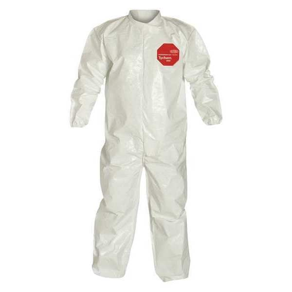 Dupont Collared Coverall, Elastic, White, 6XL, PK12 SL125BWH6X001200