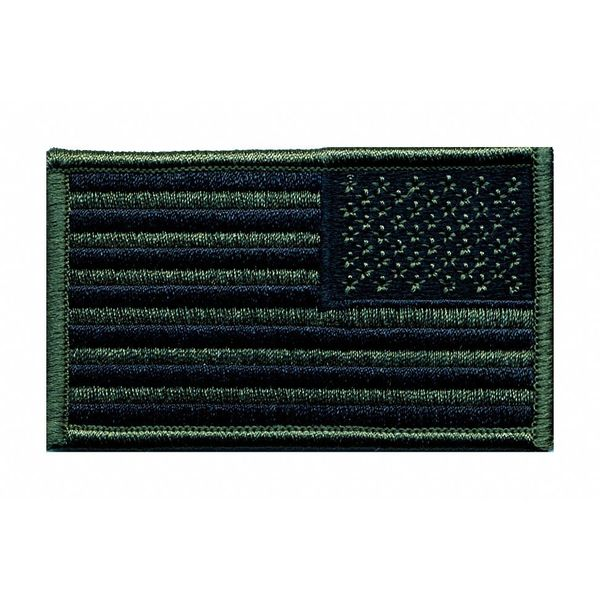 Heros Pride Embroidered Patch, US Flag, Olive Drab/Blk 7345