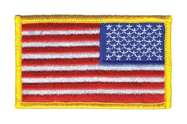 Heros Pride Embroidered Patch, U.S. Flag, Full 0041