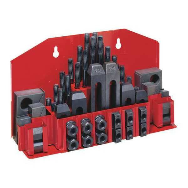 Jet Clamping Kit 52-Pc Tray For 5/8 T-Slot 660012