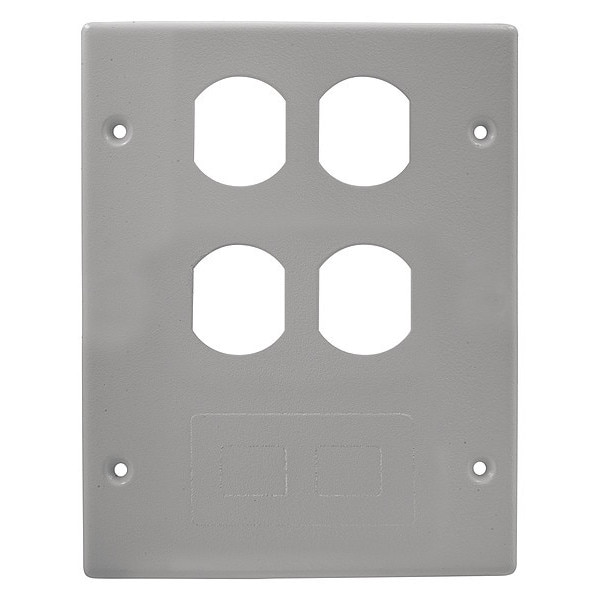 Hubbell Wiring Device-Kellems 3 Gang Cover 2 Duplex 1 Furniture Gray HBL6747BBFGY