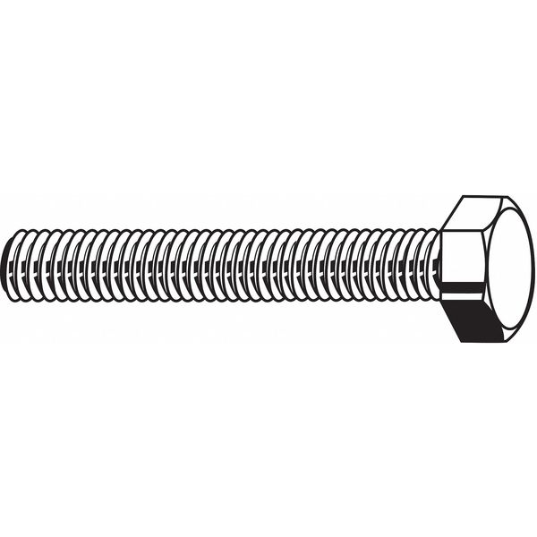 "Fabory 1/2""-13 x 7/8"" SS Grade 316 UNC (Coarse) Hex Head Cap Screws,  10 pk. U55000.050.0087"
