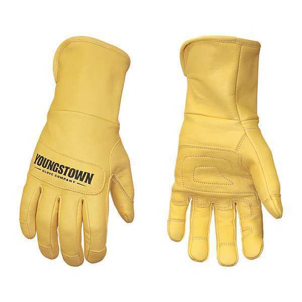 Youngstown Glove Co. Leather 3D Pattern Gloves, Tan, M, PR 11-3245-60-M