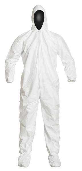 Dupont Tyvek Isoclean Hooded Disposable Coveralls, 2XL, PK25 IC105SWH2X0025CS