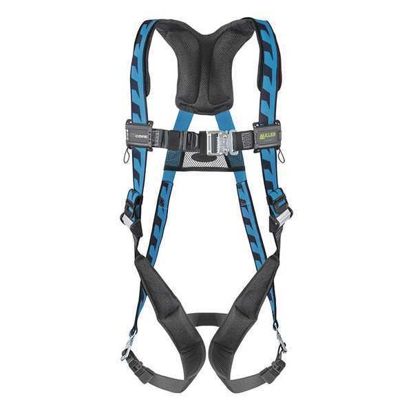 Honeywell Miller Full Body Harness,  Vest Style,  L/XL,  Polyester,  Blue AC-QC/UBL