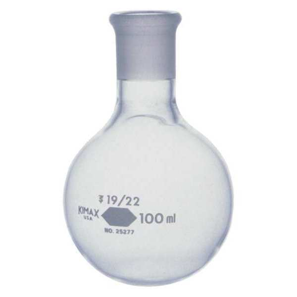Kimble Kimax Round Bottom Flask, 100mL, Glass, PK12 25277-100