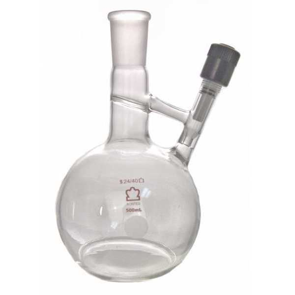 Kimble Airless Flask, 500mL, Glass, Clear 213210-0500