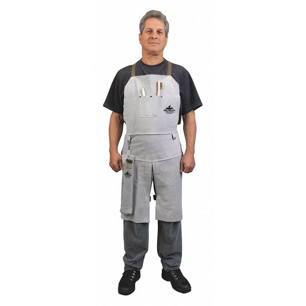 Mcr Safety Leather Welding Bib Apron Split Leg 24X 38236MW