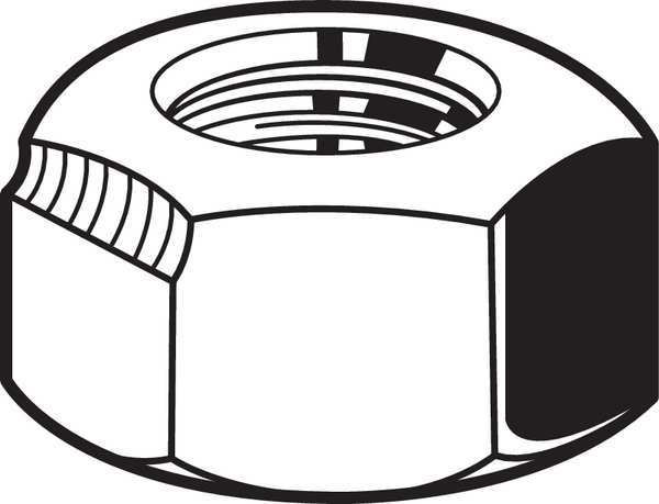 Fabory M6-1.00 Class 8 Zinc Plated Finish Carbon Steel Top Lock Nut,  100 pk. M12858.060.0001