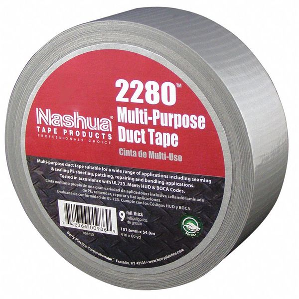 Nashua Duct Tape, 48mm x 55m, 9 mil, Silver 2280