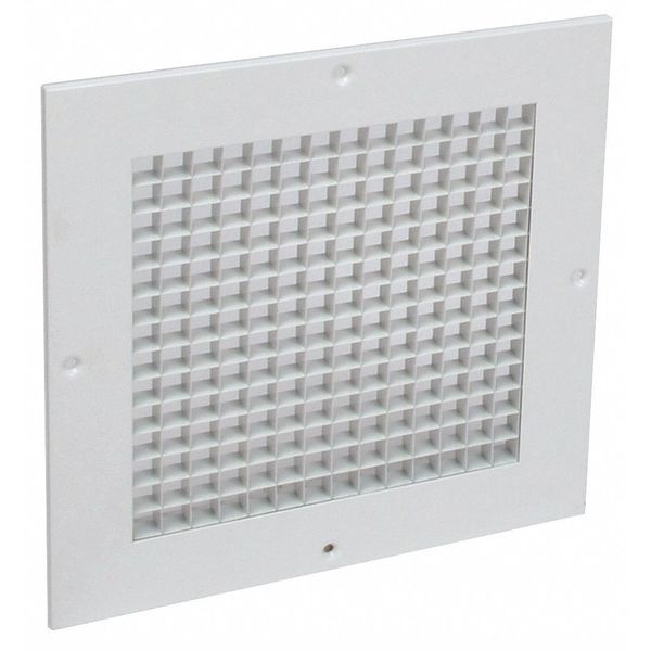 """American Louver Eggcrate Grille, Surface Mount, 6""""x 6"""", PK2 AG-6X6-RSW-2PK"""