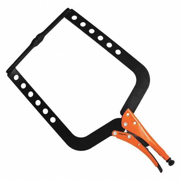 Strulo 4 13//16 Steel Quick C Clamp with Rubber Grip Tips
