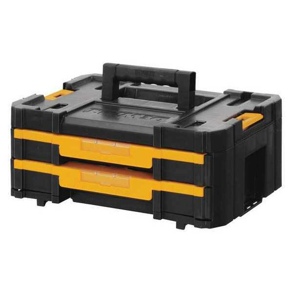 """Dewalt TSTAK® IV 7"""" Stackable 18-Compartment Double Shallow Drawer Small Parts Organizer DWST17804"""