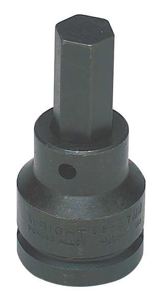 62-17MM Wright Tool 3-1//4 Hot Forged Alloy Steel Impact Bit with 3//4 Drive Size and Black Oxide Finish