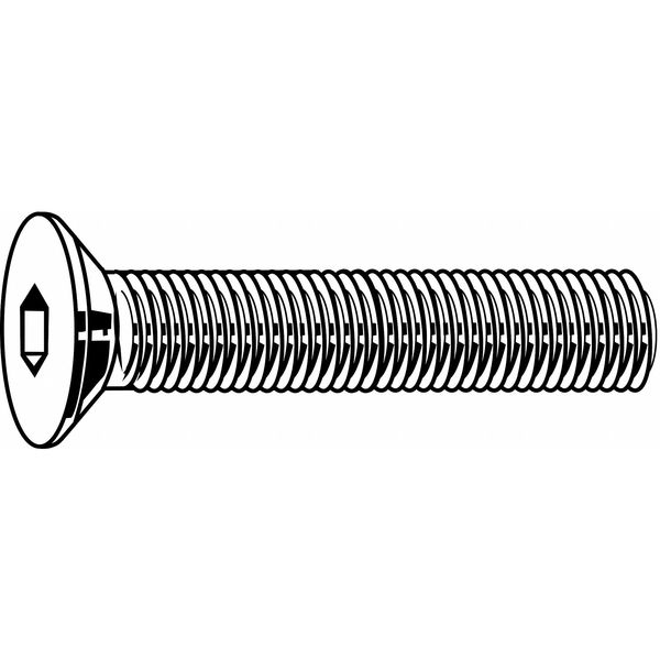 "Fabory #8-32 x 5/8"" Alloy Steel Flat Socket Head Cap Screw,  100 pk. U07410.016.0062"