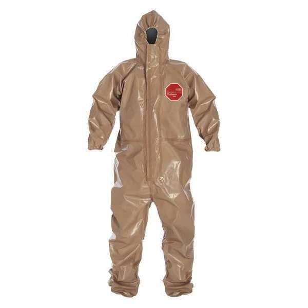 Dupont Hooded Coverall, Elastic, Tan, L, PK6 C3198TTNLG000600