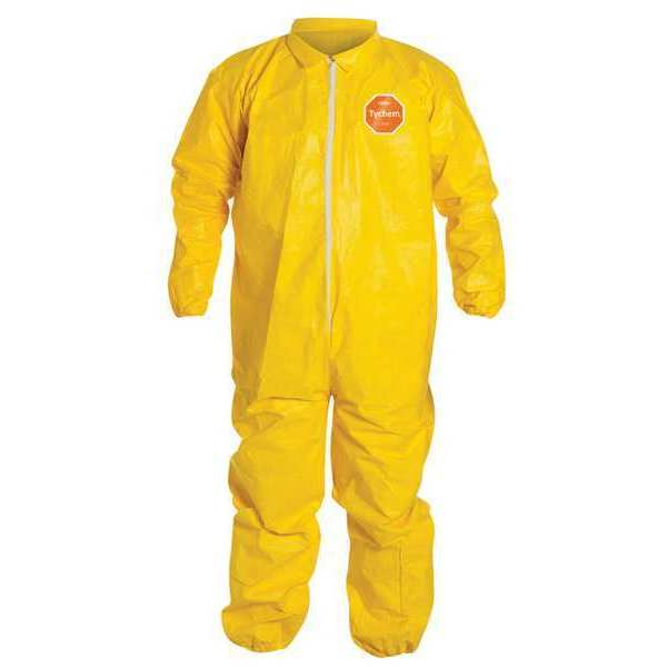 Dupont Collared Coverall, Yellow, 6XL, PK12 QC125SYL6X001200
