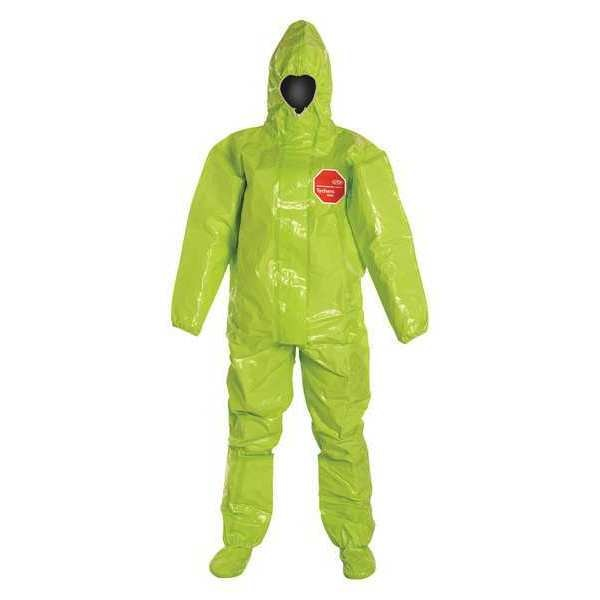 Dupont Hooded Chemical Resistant Coveralls ,  3XL ,  Lime ,  Tychem(R) 10000 ,  TK128TLY3X000200