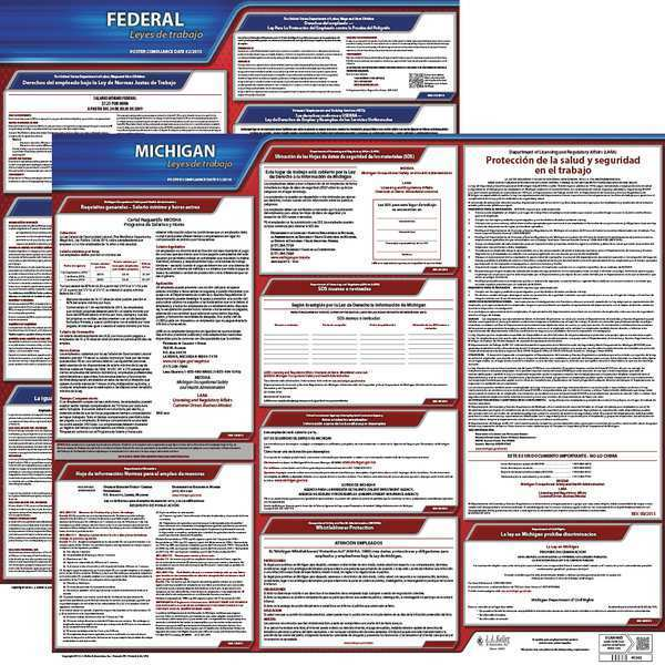 Jj Keller Labor Law Poster, Fed/STA, MN, SP, 20inH, 1yr 200-MN-1