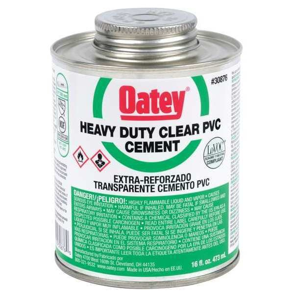 Oatey Cement, Low VOC, 16 oz., Clear 30876