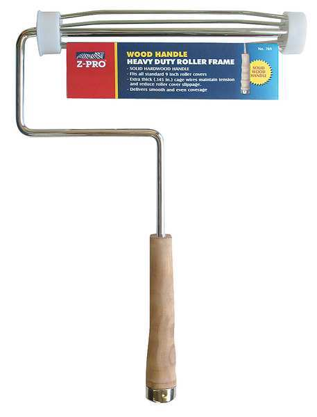 """Premier Paint Roller Frame,  5 Wire Cage,  Wood Handle,  9"""" Rollers 769"""