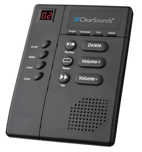 Clearsounds Amplified Answering Machine,  Black ANS3000