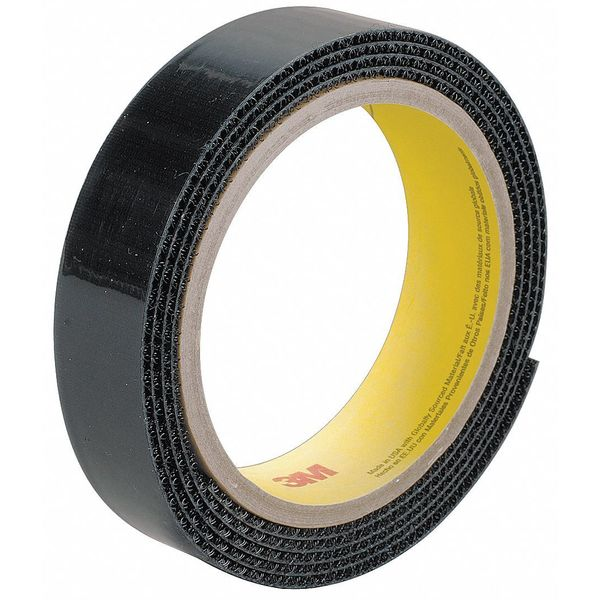 3M Fastener, Hook, 150ft., Roll, Black, PK4 SJ3519FR